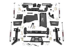 Steering And Suspension - Lift & Leveling Kits - Rough Country - 6in GM Suspension Lift Kit (88-00 K2500/3500 PU 4WD)