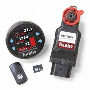 2017-2019 GM 6.6L L5P Duramax - Programmers & Tuners - Banks - Derringer Tuner, w/DataMonster with ActiveSafety, includes Banks iDash 1.8 DataMonster