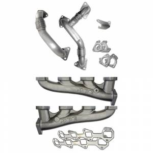 Turbo Chargers & Components - Up Pipes - PPE - PPE High Flow Exhaust Manifolds W/Up Pipes