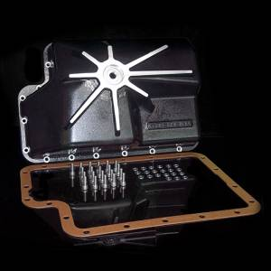 Goerend Transmission - Goerend Ford E40D/4R100 Transmission Pan Kit (Black Powdercoat)