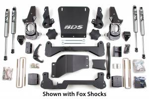 "Steering And Suspension - Lift & Leveling Kits - BDS Suspension - BDS 189H 7"" High Clearance Lift 01-10 GM 2500/3500 4x4 - Non-Torsion Bar Drop"