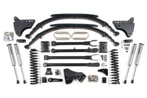 """Steering And Suspension - Lift & Leveling Kits - BDS Suspension - BDS 590H 4"""" 4-Link Suspension System for 2011-16 Ford F250/F350 4WD"""