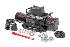 - Rough Country - 12000lb Pro Series Electric Winch | Synthetic Rope