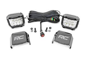 Lighting - Offroad Lights - Rough Country - 3-inch Wide Angle OSRAM LED Lights - (Pair)