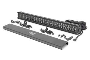 Lighting - Offroad Lights - Rough Country - 30-inch Cree LED Light Bar - (Dual Row | Black Series w/ Cool White DRL)