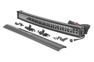 Lighting - Offroad Lights - Rough Country - 30-inch Curved Cree LED Light Bar - (Dual Row | Black Series w/ Cool White DRL)
