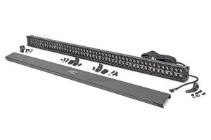 Lighting - Offroad Lights - Rough Country - 50-inch Cree LED Light Bar - (Dual Row | Black Series w/ Amber DRL)