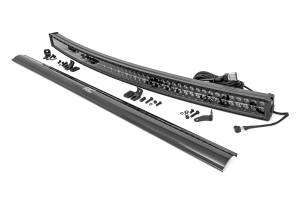 Lighting - Offroad Lights - Rough Country - 54-inch Curved Cree LED Light Bar - (Dual Row | Black Series w/ Cool White DRL))