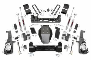 Steering And Suspension - Lift & Leveling Kits - Rough Country - 5in GM NTD Suspension Lift Kit (11-19 2500HD/3500HD)
