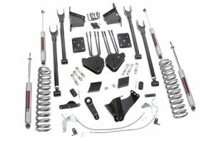 Steering And Suspension - Lift & Leveling Kits - Rough Country - 6in Ford 4-Link Suspension Lift Kit (15-16 F-250 4WD | Diesel W/O Overloads)