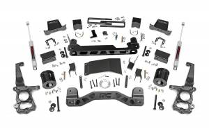 Ford Powerstroke - 2018-20 Ford F-150 3.0 Powerstroke - Rough Country - 6in Ford Suspension Lift Kit | Lifted Struts (15-20 F-150 4WD)