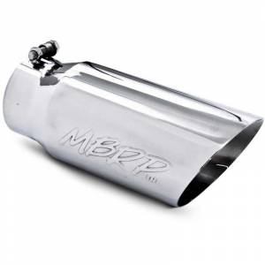 """Exhaust - Exhaust Tips - MBRP - MBRP T5053 4"""" x 5"""" x 12"""" Dual Wall Angled Stainless Exhaust Tip"""