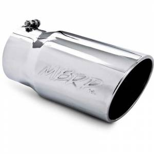 """Exhaust - Exhaust Tips - MBRP - MBRP T5075 5""""x6""""x12"""" Stainless Steel Angled Rolled End Exhaust Tip"""