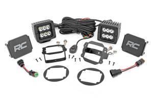 Lighting - Offroad Lights - Rough Country - 2-inch Black Series CREE LED Fog Light Kit (10-18 Wrangler JK)