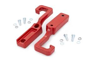 Dodge/Jeep Ecodiesel - 2014-2018 Jeep Grand Cherokee 3.0 Ecodiesel - Rough Country - Forged Tow Hooks (15-19 Grand Cherokee WK2 | Red)